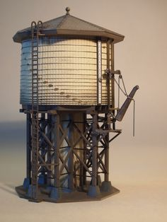 Walther's HO scale water tower painted for Pennsylvania RR