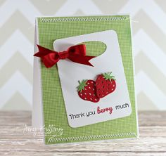 Whimsy Stamps—Feeling Fruity and the coordinating Fruit Trio Dies