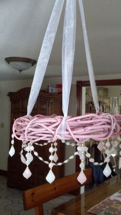 Pink Chandelier Shabby Chic Pink White Grapevine Budoir Bedroom Cottage Style Farmhouse Faux Chandelier on Etsy, $85.00