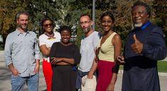 Los periodistas Xavier Aldekoa, Aisha Dabo, Rosebell Kagumire, Pepe Naranjo, Verashni Pilai y Eric Chinje, este lunes en Madrid.  Apasionados por contar África El primer encuentro de periodistas africanos y españoles organizado por Casa África reúne en Madrid voces y plumas con una meta común: dar a conocer el continente más y mejor