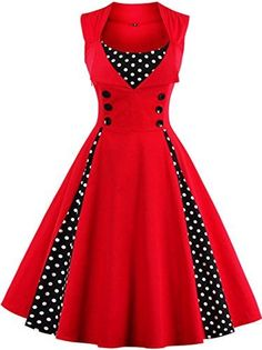 Women Robe Retro Vintage Dress Rockabilly Dot Swing Pin Up Summer Party Dresses Elegant Tunic Vestidos Casual Size S Color Sky blue Robes Vintage, Retro Vintage Dresses, Vestidos Vintage, Retro Dress, Vintage Outfits, Vintage Clothing, Vintage Prom, Vintage Style, Women's Clothing