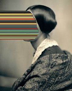 Unidentified Woman / Hypercolours by Matthieu Bourel. Unidentified Woman / Hypercolours by Matthieu Bourel. Collage Foto, Art Du Collage, Art Pop, Photomontage, Photoshop, Matthieu Bourel, Kunst Online, Glitch Art, Grafik Design