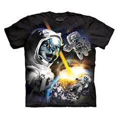 The Mountain Men's Cataclysm - Astronaut Cat T-Shirt Black M