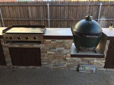 It was a bit of a drawn out process, but the outdoor kitchen & covered patio project that started before Thanksgiving is finally done! Outdoor Grill Area, Outdoor Grill Station, Outdoor Cooking Area, Outdoor Kitchen Patio, Patio Grill, Outdoor Kitchen Design, Backyard Patio, Outdoor Living, Outdoor Kitchens