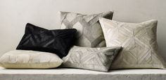 Diamond Cowhide and Cowhide Link Pillow Collection | RH