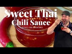Thai Dipping Sauce, Dipping Sauces For Chicken, Sauce For Chicken, Thai Sweet Chili Sauce, Sweet Sauce, Chili Sauce Recipe, Sauce Recipes, Pickled Beets Recipe, Home Canning Recipes