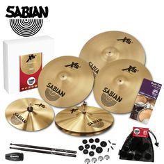 Sabian Inc. XS5005B-DPS2 Xs20 Power Rock Cymbal Pack with LP Rumba Shaker, Evans Drum Survival Guide, Sabian Cymbal Care Kit and 5A Pro-Mark by Sabian Inc.. $459.00. Sabian Xs20 Power Rock Cymbal Pack - Includes: LP Rumba Shaker, Evans Drum Survival Guide, Sabian Cymbal Care Kit & 5A Pro-Mark
