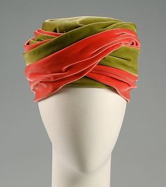 Turban French 1960 velvet twist #millinery #judithm #hats