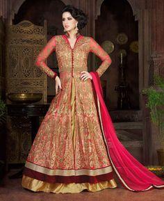 Buy Amazing Pink Wedding Salwar Kameez online at  https://www.a1designerwear.com/amazing-pink-wedding-salwar-kameez  Price: $101.38 USD