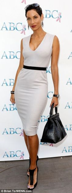 Nicole Murphy + dress- such a beautiful woman.