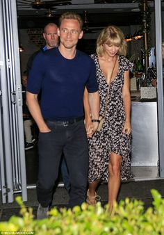 Feeling peckish? Tom Hiddleston (left) and Taylor Swift (right) stepped out for dinner on Australia's Gold Coast on Sunday night