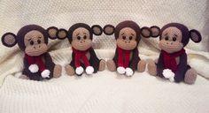 Free naughty monkey crochet pattern
