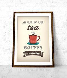 Tè e stampa. Una tazza di tè risolve tutto tè di LatteDesign