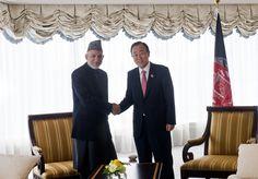 Secretary-General Meets President of Afghanistan in Tokyo