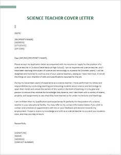 Easy Template to Write Your Own Cover Letter | CV TEMPLATES FOR ME Simple Cover Letter, Cover Letter Sample, Cover Letter Template, Letter Templates, Project Manager Cover Letter, Cover Letter Teacher, National High School, Professional Resume Writers, Application Letters