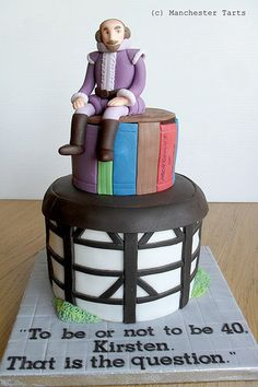 Celebration cake: Shakespeare and Globe Theatre   www.manche…   Flickr
