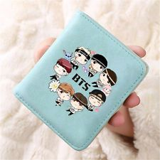 KPOP BTS Bangtan Boys Wallet V Suga Jin JungKook RapMonster Jim J-Hope Coin Bag