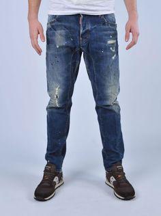 D2 - Jeans strappato macchiato | Di Pierro http://www.dipierrobrandstore.it/product/2501/Jeans-strappato-macchiato.html