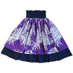 Monstera Purple Double Pa'u Hawaiian Hula Skirt  #madeinhawaii #hawaiian