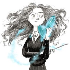"2,447 Likes, 8 Comments - TomWillTell (@tomwilltell) on Instagram: ""A quick teenage Hermione for HP's birthday. #harrypotter20thanniversary #patronus"""