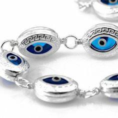 Greek Key Evil Eye Bracelet Evil Eye Store. $44.50