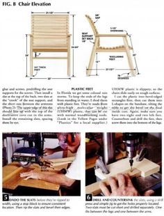 #701 Patio Chair Plans - Outdoor Furniture Plans