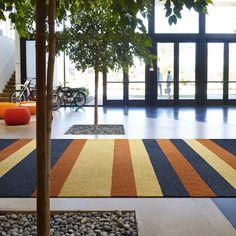 Interface │Laattapiste #interface #tekstiililaatta #carpet #tile #aula #eteinen