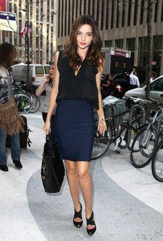 Miranda Kerr My favorite--navy and black