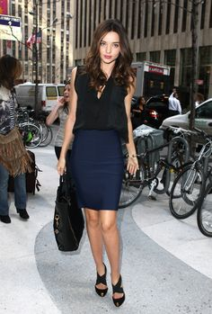 Miranda Kerr My favorite--navy and black