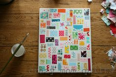 crazy mom quilts: how to make a ticker tape on canvas