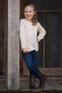 off white sweater cardigan for girls Cream color with bows button up dressy sweater Strasburg Children