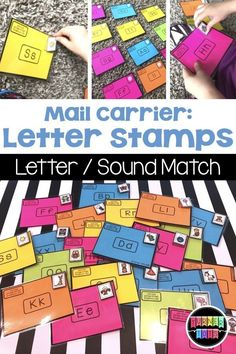 Alphabet Envelopes and Stamps Literacy Activity Mail Carrier Letter Stamps Preschool Letters, Preschool Lessons, Preschool Activities, Preschool Set Up, Preschool Phonics, Morning Activities, Preschool Classroom, Family Activities, Classroom Ideas