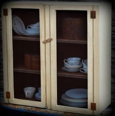 Primitive Country Farmhouse Cupboard for  by redroosterbab on Etsy, $120.00