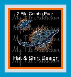 Miami Dolphines Football Instant Download Rhinestone SVG EPS Design File by MyFileAddiction