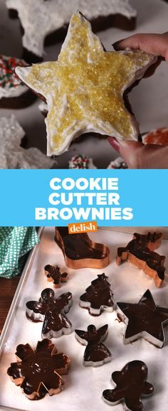This brownie hack makes your sugar cookies look like amateur hour. #brownies #baking #recipes #easyrecipe #holiday #sugar #cookiecutter #frosting