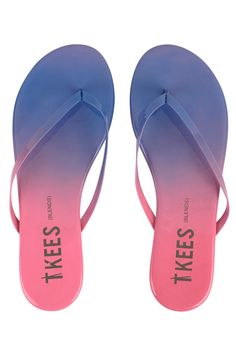 TKEES Flip Flops BLENDS   Blue&Cream