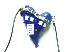 Doctor Who Inspired TARDIS Heart Necklace Made by AmanorCreations, $14.00