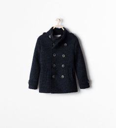Image 1 of FLEECE LINED BUTTONED SHORT COAT from Zara