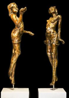 """a Display of a selection Sculptures hand-made by Gerhardvanecksculptures a fine art artist. His focus is mainly on the human body putting the essence on the """"feel & movement"""" of the sculpture characters. Coming Of Age, Human Body, South Africa, Sculptures, Van, Bronze, Statue, Fine Art, Artist"""