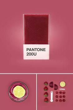 Pantone Smoothies – Recréer les couleurs Pantone avec des fruits mixés (image)