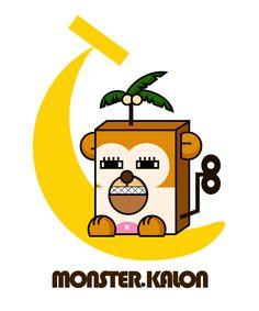 MONSTER.KALON • character • monkey • monster • Illust • design • cute • animal • unique • banana