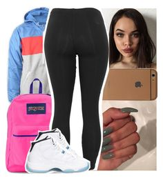 """""""Caught the wave i ain't surfin"""" by theyknowtyy ❤ liked on Polyvore featuring adidas, JanSport and Retrò"""