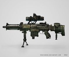 Rifle concept by ProxyGreen on DeviantArt