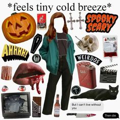 I'm in the spooky mood hehehe - Liis Luks - Deep Nostalgia Autumn Aesthetic, Aesthetic Fashion, Aesthetic Clothes, Grunge Outfits, Fall Outfits, Cute Outfits, Artsy Outfits, Fall Memes, Aesthetic Memes