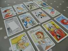 Waddingtons Set of Scoop Game Cards - Vintage Game Pieces, Crafts, Upcycling