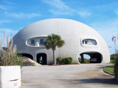 """Eye of the Storm"" — This Monolithic Dome home, on a beach site on Sullivans Island, South Carolina,"
