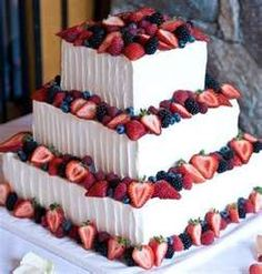Spectacular 4th of July Wedding Cake