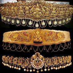 Vaddanam Designs by SRJ Fine Jewellry - Jewellery Designs Antique Jewellery Designs, Indian Jewellery Design, Antique Jewelry, Jewelry Design, Indian Wedding Jewelry, Indian Jewelry, Bridal Jewelry, Gold Jewelry, Jewelery