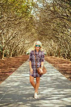 Plaid Shirtdress | Now
