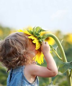 babie and sun flower